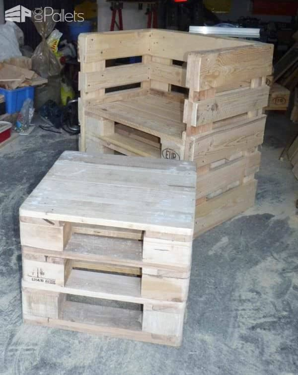 Coffee Table & Pallet Chairs Pallet Benches, Pallet Chairs & StoolsPallet Coffee Tables