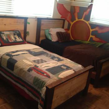 Double Kids Pallet Beds
