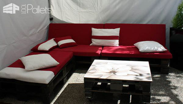 garden pallets lounge canap de jardin 1001 pallets. Black Bedroom Furniture Sets. Home Design Ideas