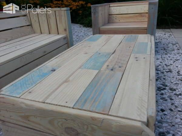 Little Children Lounge Set Out Of Recycled Pallets Lounges & Garden Sets
