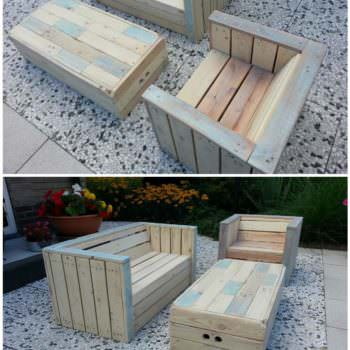 Little Children Lounge Set Out Of Recycled Pallets