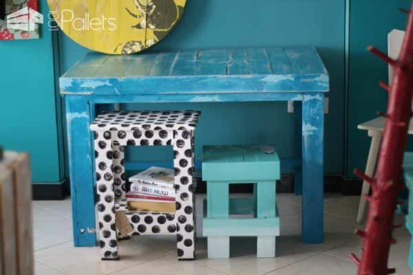 Little Rocks - Upcycling Projects With Pallet Wood Pallet Desks & Pallet Tables