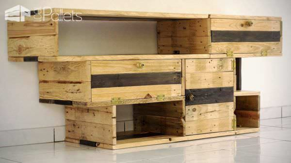 meuble tv design design tv stand from pallets wood 1001 pallets. Black Bedroom Furniture Sets. Home Design Ideas