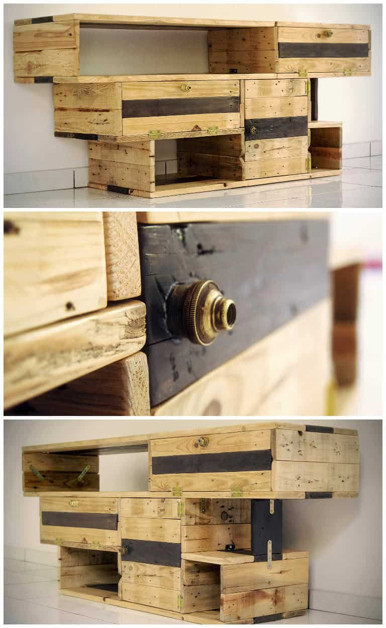 meuble tv design design tv stand from pallets wood 1001 pallets - Meuble Tv Made In Design