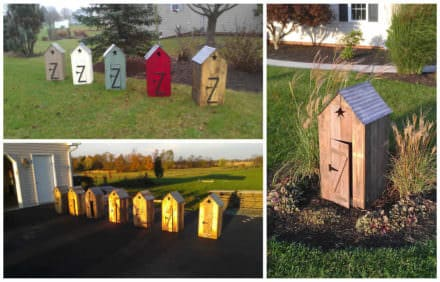Mini Outhouses Made With Repurposed Pallets