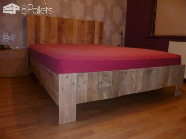 My New Pallets Bed DIY Pallet Bed Headboard & Frame