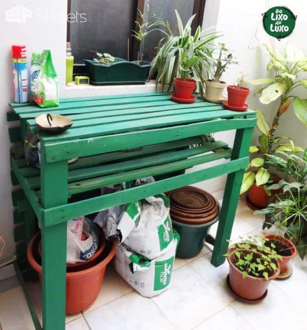 Palets & Cores / Pallets & Colors DIY Pallet Furniture