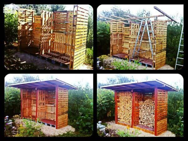 Pallet Firewood Shed Pallet Sheds, Pallet Cabins, Pallet Huts & Pallet Playhouses