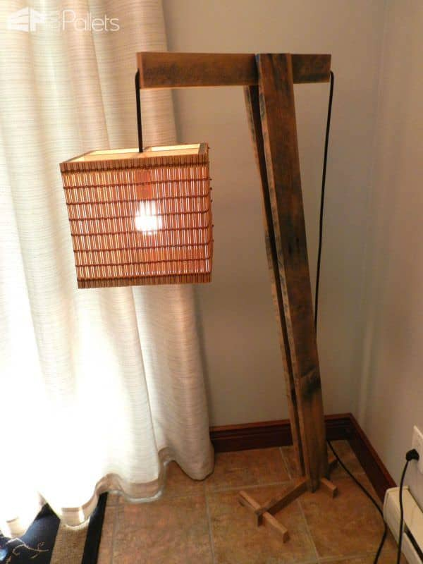 Pallet Floor Lamp Pallet Lamps, Pallet Lights & Pallet Lighting