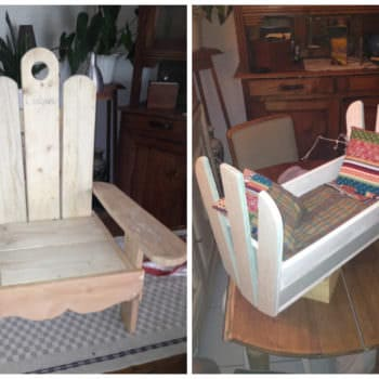 Pallet Kids Chair & Doll Cradle