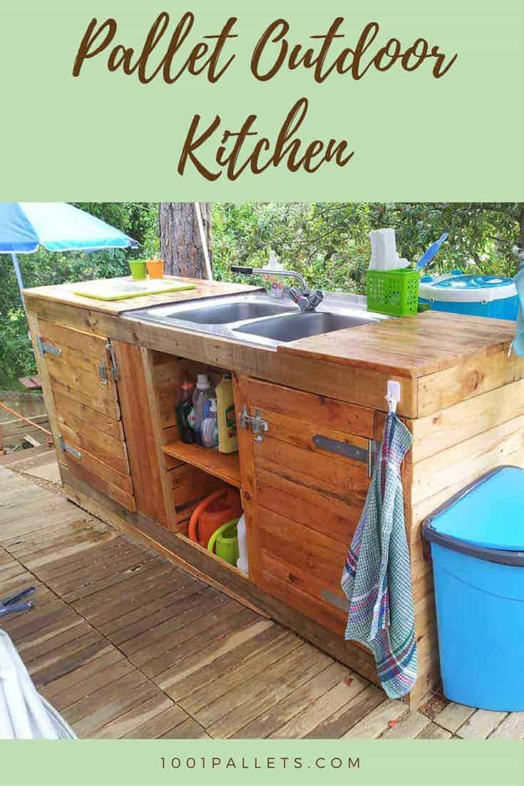 Pallet Outdoor Kitchen 1001 Pallets