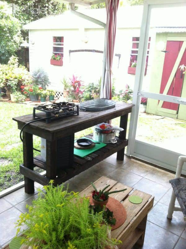 Pallet Patio Kitchen Pallet Desks & Pallet Tables