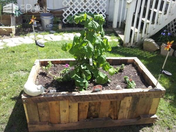 Pallet Raised Planter Pallet Planters & Compost Bins