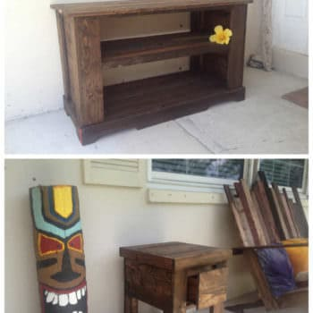 Pallet TV Stand, Side Table & Bench