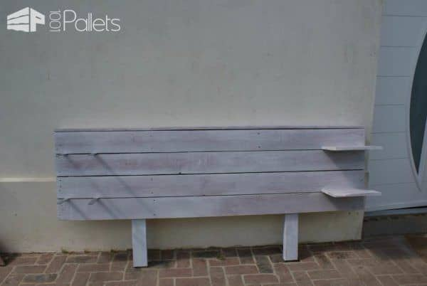 Pallets Bed Headboard / Tête De Lit En Palettes DIY Pallet Bed Headboard & Frame
