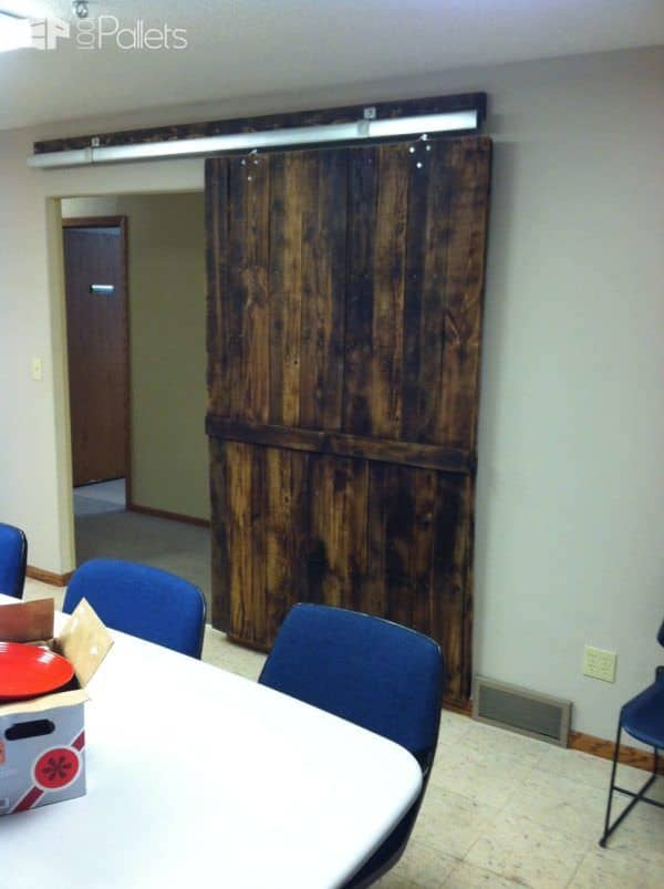 Pallets Conference Room Door Pallet Walls & Pallet Doors