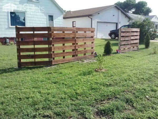 Pallets Fence Pallet Fences