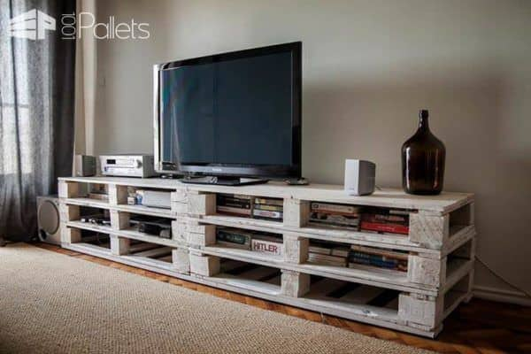 pallets mobile tv stand ? pallet ideas ? 1001 pallets - Mobili Pallet Interior Design