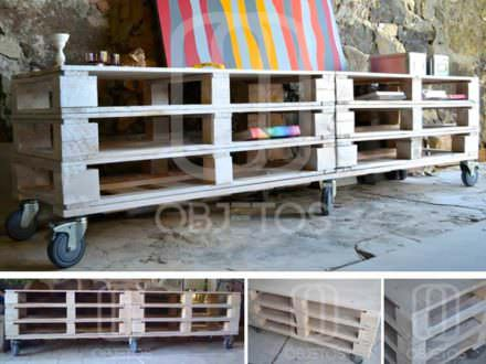 Pallets Mobile TV Stand