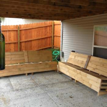 Patio Pallet Sofas