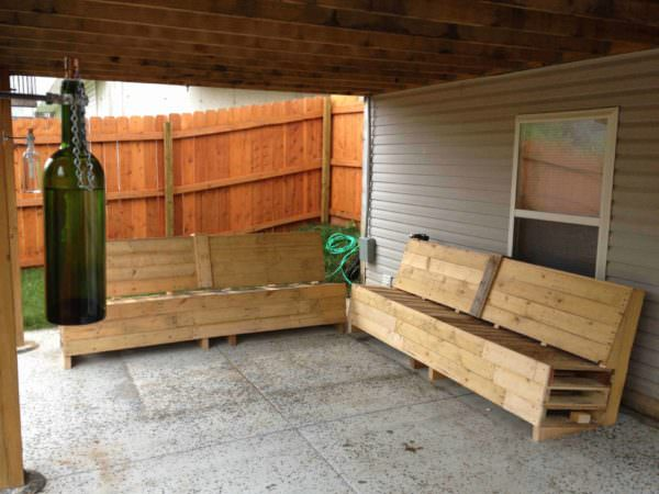 Patio Pallet Sofas Pallet Sofas & Couches