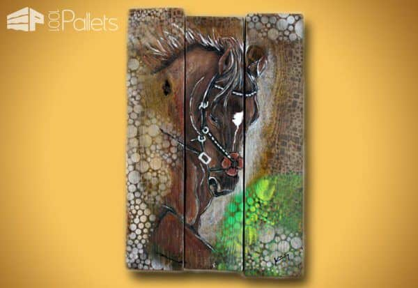 Peinture Sur Bois De Palette / Painting on Pallet Wood Pallet Wall Decor & Pallet Painting