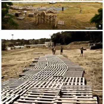 Picnic Park Made Out Of 600 Repurposed Pallets