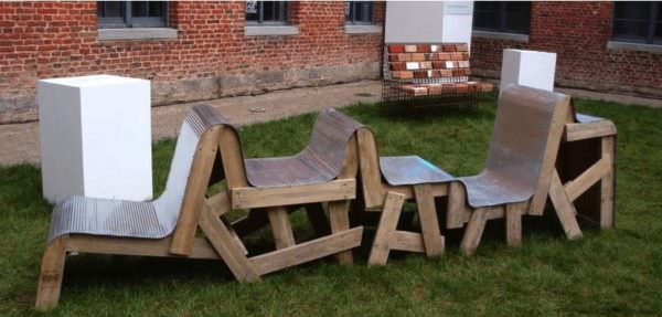 Rubanc, 5 Days Garden Set Project Pallet Benches, Pallet Chairs & Stools