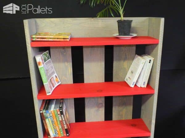 Wooden Pallet Shelf Biblioth Que Etag Re En Bois De Palette 1001 Pallets