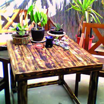 Yard Table Made Out Of Discarded Pallet
