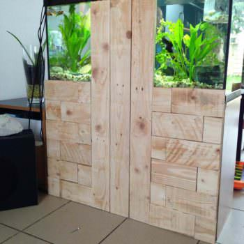 Pallet To Hide Aquarium Back