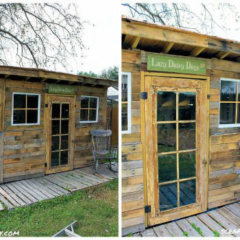 Shed Made From Reclaimed Pallets & Tin Cans