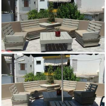Pallet Furniture For Roof Terrace