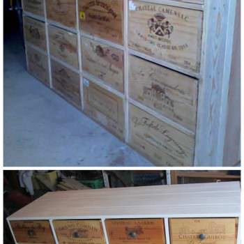Shoe Storage From Pallets & Wine Boxes