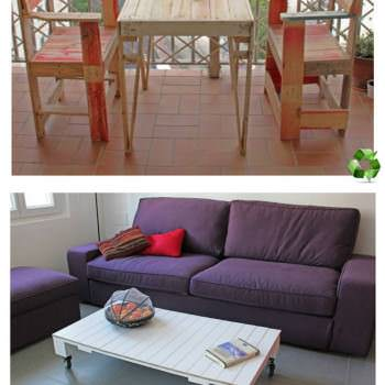 My Pallet Tables & Chairs
