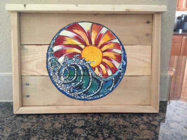 Pallet Picture Canvas Pallet Wall Decor & Pallet Painting