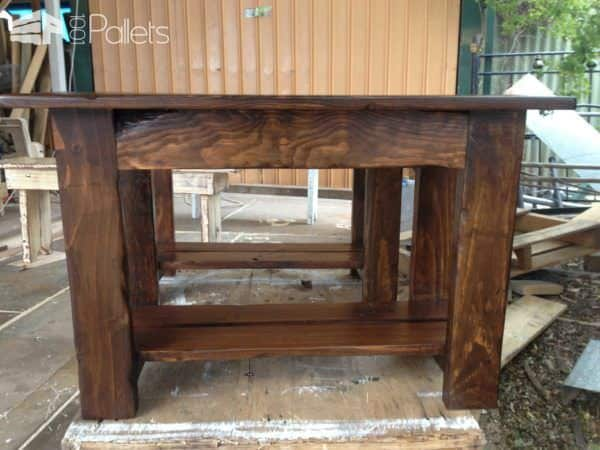 Pallet Bench Seat With Storage Shelf Pallet Benches, Pallet Chairs & Stools