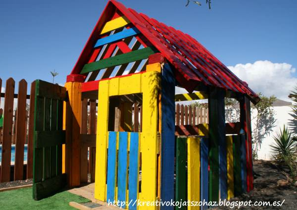 Pallet Kids House Fun Crafts for Kids Huts, Cabins & Playhouses