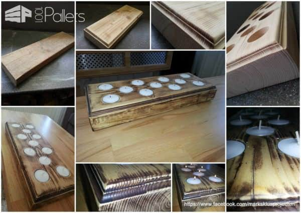 Candles Tray Made Of Recycled Pallet Wood Pallet Home Accessories