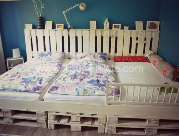 Family Pallet Bed Made Of Recycled Euro Pallets DIY Pallet Beds, Pallet Bed Frames & Pallet Headboards