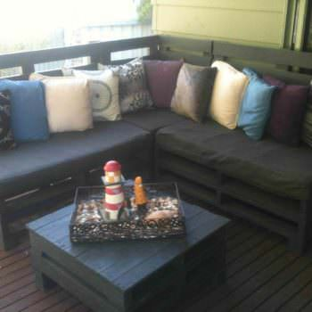 Backyard Retreat On This Pallets Sofa