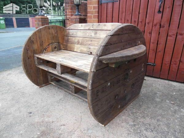 Pallet & Cable Drum Bench Pallet Benches, Pallet Chairs & Pallet Stools