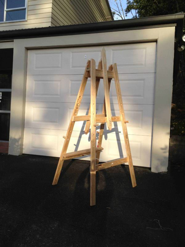 Art Easel - Made From Repurposed Pallet Timber Pallet Home Accessories