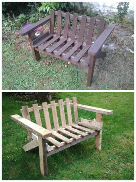 Pallet benches pallet chairs stools page 29 of 36 - Construction banc en palette ...
