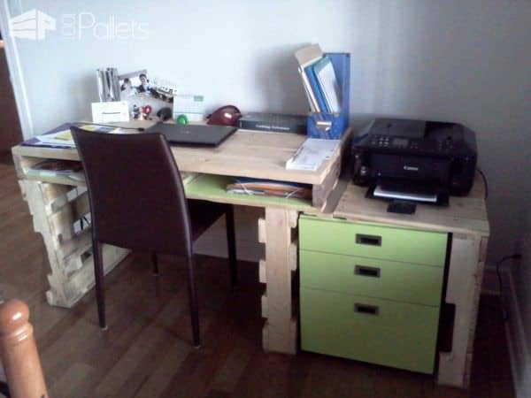 Bureau Pour La Maison / House Writing Desk Pallet Desks & Pallet Tables