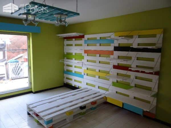 chambre enfant compl te en palettes pallets kids room 1001 pallets. Black Bedroom Furniture Sets. Home Design Ideas