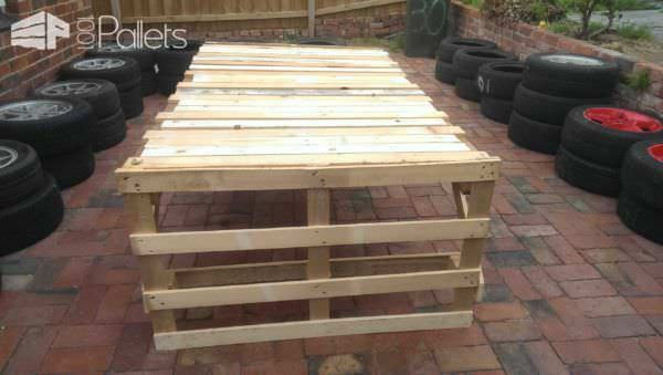 Cheap & Easy Pallet Table Pallet Desks & Pallet Tables