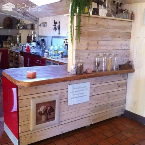 Elément De Cuisine / Pallets Kitchen Element DIY Pallet Bars