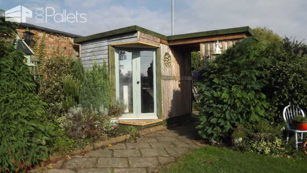 Garden Room Made Out Of 50 Repurposed Pallets Pallet Sheds, Pallet Cabins, Pallet Huts & Pallet Playhouses