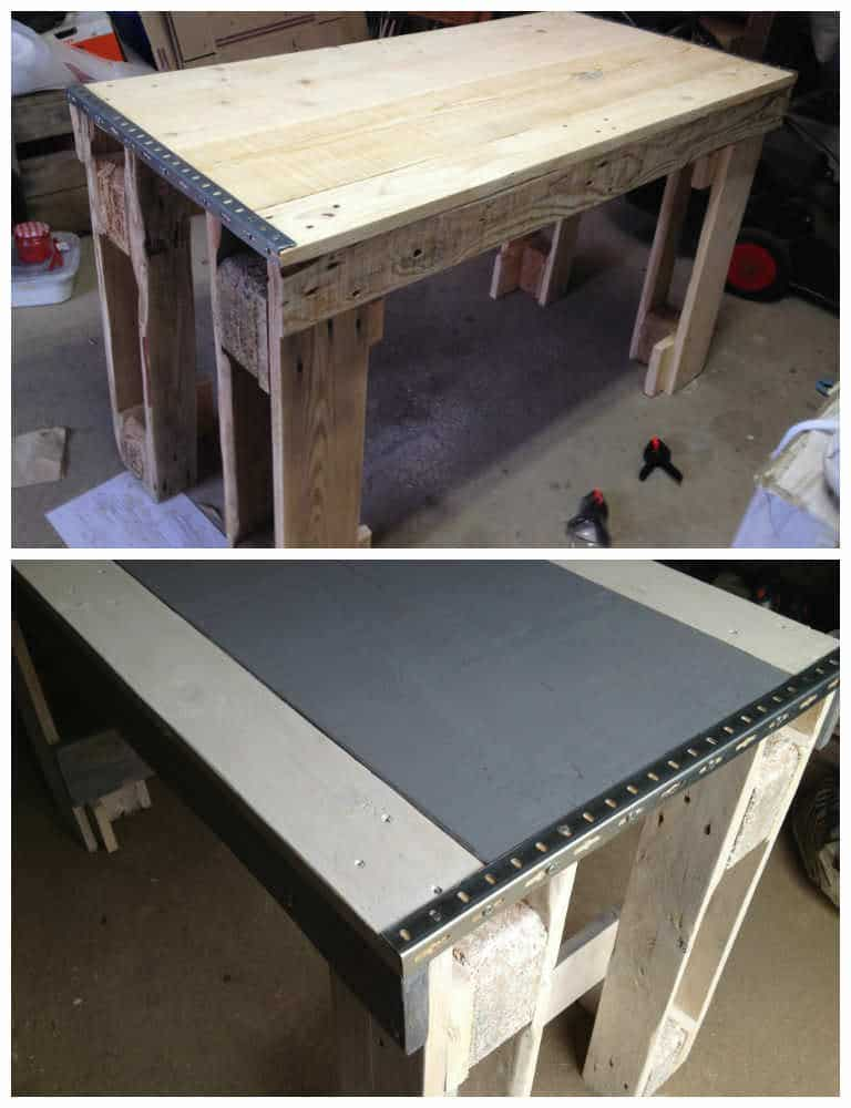 Kitchen table from repurposed pallets 1001 pallets for Repurposed kitchen table